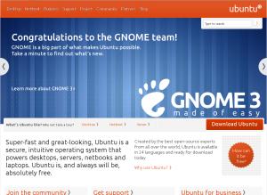 Ubuntu saluta Gnome 3