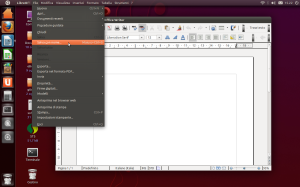 Libre office menubar